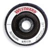 Westward 6NX67 Arbor  Flap Disc, 4-1/2, 24, Extra Coarse