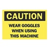 Brady 41166 Caution Sign, 7 x 10In, BK/YEL, ENG, Text
