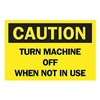 Brady 85901 Caution Sign, 10 x 14In, BK/YEL, ENG, Text