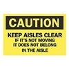 Brady 69307 Caution Sign, 10 x 14In, BK/YEL, ENG, Text