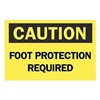 Brady 65039 Caution Sign, 10 x 14In, BK/YEL, ENG, Text