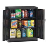 Tennsco 1842SU-BK Counter Height Cabinet, AssembledBlack