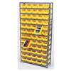 Quantum 1275-107YL Bin Shelving, Solid, 36X12, 48 Bins, Yellow