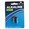 Approved Vendor 5U076 Standard Battery, N, Alkaline, 1.5V, PK 2