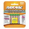 Rayovac LD724-40P Rechargeable Battery, 750mAh, AAA, PK 4