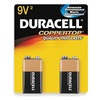 Duracell MN1604B2Z Battery, Alkaline, 9V, PK 2