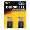 Duracell MN1604B2Z Battery, Alkaline, 9V, PK 2