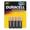 Duracell MN1500B4Z Battery, Alkaline, AA, PK 4