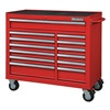 Westward 32H891 Rolling Cabinet, 42 x18-1/2 x39-13/16, Red