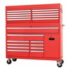 Westward 7CX74 Combo Chest/Cabinet, 55-1/8 In, 21 Drw, Red