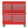 Westward 7CX93 Combo Chest/Cabinet, 57 In, 22 Drw, Red