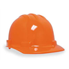 Bullard 4100R Hard Hat, FrtBrim, Slotted, 4Rtcht, Orange