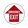 Brady 49067 Emergency Exit Sign, 17 x 17In, R/WHT, ENG