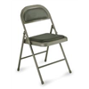 Approved Vendor VC-27 Steel Chair with Vinyl Padded, Gray