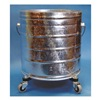 Tough Guy 2W317 Bucket, 8 Gal., Silver, Galvanized Steel