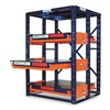 Jarke EZ484872 Roll Out Shelving, 3 Shelf, 48x48x72-1/2H