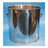 Tough Guy 3U494 Bucket, 8 Gal., Silver, SS, 13-1/2 In H