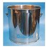 Tough Guy 3U494 Bucket, 8 Gal., Silver, SS, 13-1/2 In H