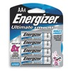 Energizer L91BP-4 Battery, Lithium, AA, PK 4