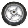 Wesco 150120 Wheel, 8x2 In, Mold On Rubber