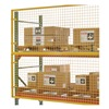 Husky RGW09000-04000 Pallet Rack Protector, 108W x 48H, Yellow