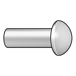 Approved Vendor Rivet, Round, 5/32 Dia, 3/8 L, PK 100 at Sears.com