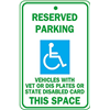 Brady 91389 Parking Sign, 24 x 18In, BL and GRN/WHT