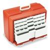 Flambeau 6763PM First Aid Storage Case, W 10 3/8, 5Drawers