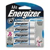Energizer L91BP-8 Battery, AA, Lithium, PK 8