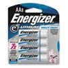 Energizer L91BP-8 Battery, AA, Lithium, PK 8