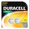 Duracell DL2032B2PK Coin Cell, 2032, Lithium, 3V, PK 2
