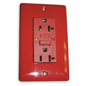 Hubbell Wiring Device-Kellems GFCI Receptacle, Duplex, 20A, 5-20R, Red at Sears.com