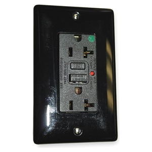 Hubbell Wiring Device-Kellems GFCI Receptacle, Duplex, 20A, 5-20R, Black at Sears.com