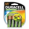 Duracell DX1500R4 Precharged Rechargeable Batteries, AA, PK4