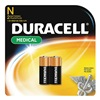 Duracell MN9100B2PK Battery, N, Alkaline, 1.5V, PK 2