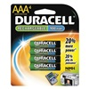 Duracell DC2400B4N Rechargeable Battery, 1000mAh, PK 4