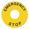 Omron Sti A22Z-3466-1 Legend Plate, Emergency Stop, UseW/ 22mm