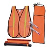 Cortina 95-06-03 Drivers Safety Kit, w/Vest, Glow Stick