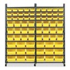 Approved Vendor 1UGK8 Single Sided Bin Storage Rack, 68InW, Gray