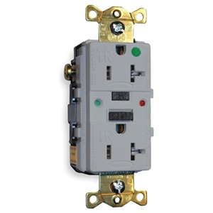 Hubbell Wiring Device-Kellems GFCI Receptacle, 20A, Hospital, AutoGrd, Gry at Sears.com