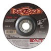 United Abrasives-Sait 22606 Depressed Center Wheel, T27, 9x1/4x7/8, ZA