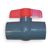 GF Piping Systems 161350723 Ball Valve, 3/4 In Socket, PVC, EPDM Seal