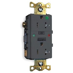 Hubbell Wiring Device-Kellems GFCI Receptacle, 20A, Hospital, AutoGrd, Blk at Sears.com