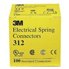 3M 312-KEG Yellow Spring Connector312, Keg, PK25000