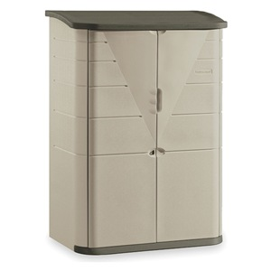 Rubbermaid outdoor storage shed large vertical h 77