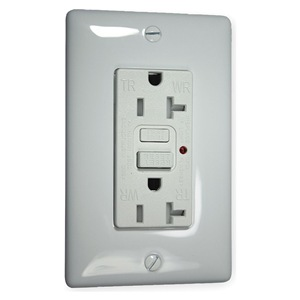 Hubbell Wiring Device-Kellems GFCI Receptacle, 20A, Commercial, White at Sears.com