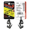 Nite Ize F9S-02-01 Rope Tightener, 1-3/4 In., Aluminum, Black