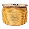 Approved Vendor 2PRK5 Twisted Polypro Rope, 3/8In, 600Ft, Orange