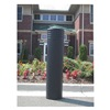 Ideal Shield DECO-SC-10-52 BLACK Bollard Cinco, 49 In H, 10 In Dia, Black