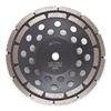 Husqvarna LW2-2 Segment Cup Wheel, Diamond, Double, 4x5/8-7/8